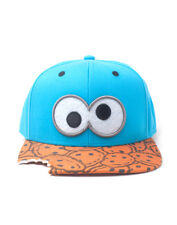 OFFICIAL SESAME STREET - COOKIE MONSTER EYES - COOKIES BITE SNAPBACK CAP (NEW)