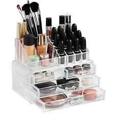 Beautify 10/041 Acrylic Cosmetic Makeup Organiser 20 Sections With 4 Drawers