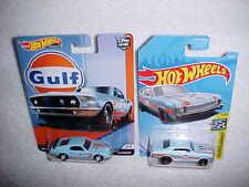 MATTEL HOTWHEELS HW GULF CARS '69 BOSS MUSTANG with REAL RIDERS & '68 CHEVY NOVA