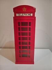"Telephone Box Piggy Bank 7"" Tall Used"