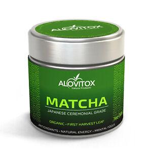 Matcha Green Tea Powder | High Caffeine  Ceremonial Grade Japanese First Harvest