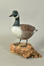 Canada Goose Carved Wood & Handpainted Figure With Metal Plaque
