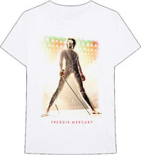 Queen-Freddie Mercury-Gold Mask and Glitter-X-Large White T-shirt