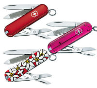 COUTEAU SUISSE VICTORINOX CLASSIC 7 OUTILS MODELE AU CHOIX ROUGE ROSE EDELWEISS