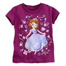 DISNEY STORE SOFIA THE FIRST TEE WITH FILIGREE SIZE 7/8 NICE GLITTER ACCENTS NWT