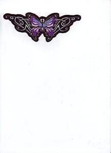Aufnäher Patch Modell Pink Butterfly Größe ca. 15,0 cm auf 5,5 cm