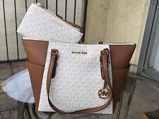 Michael Kors Charlotte Ciara Tote Shoulder Bag Large - Brown