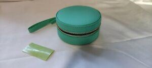 Lisa Angel -Vegan Leather Travel Jewellery Box Pink Grey & Mint Dropdown Select