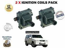 FOR DAEWOO SSANGYONG MUSSO 2.3i GLS 3.2 GX220 1996->NEW 2 X IGNITION COILS SET