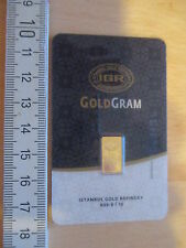 1g Goldbarren, IGR Turkey, 999,9/1000 Fine Gold, im Blister, großes Format !!!