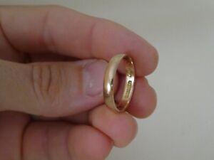 Vintage 9CT Rose Gold Wedding Band Ring Size S