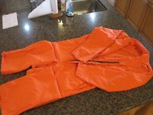 Red Kap unlined Coveralls Twill Mens 42 Reg CT10OR4 long sleeve NWOT Work Orange
