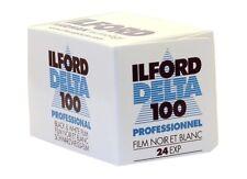 BANDE 135 MM NOIR ET BLANC ILFORD DELTA 24 POSE 100 ISO PROFESSIONNEL