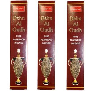 3 x Dehn Al Oudh Agarwood / Masala Nandita Incense Sticks Insence/Insense