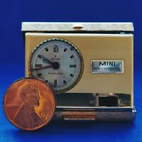 Rare Vintage Stowa Mini Alarm Electronic Mechanical Travel Clock Germany