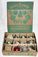 Vintage Assortment of Christmas tree Decorations-Glass-Plastic-Tops-Frosted-more