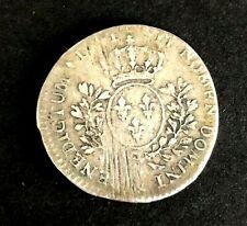1/5 Ecu au bandeau Louis XV Argent 1741& AIX 5,50 grammes
