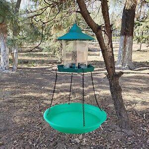 Bird food Catcher Tray Platform Tray Bird Feeder Feeding Food Container Hanging