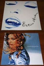 MADONNA 2x LP VINYL Lot RAY OF LIGHT & EROTICA GATEFOLD EDITION EU PRESS LTD NEW