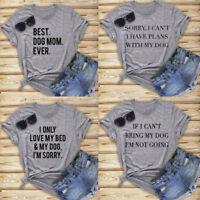 Wowmn Tee Funny Love Dog Shirt Dog T-shirt Lover Gift Unisex Tops Present S M L