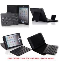 Wireless Bluetooth keyboard Leather Case with Stand for All Ipad Mini 1 2 3 4 US