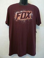 New Fox Racing Men Sidewinder Premium Tee Heather Burgundy T Shirt Large #21-33