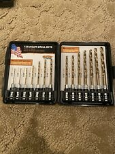 Montana Brand Titanium Drill Bits Hex Shank Power Tool High Speed 14 Piece New