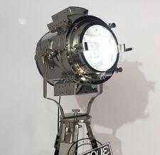 Halloween Big Industrial Searchlight Spot-Lamp Adjustable Night Lamp Black Woode