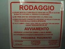 TARGHETTA RODAGGIO KIT 10 PEZZI per PIAGGIO VESPA  RALLY 180 200 VSD1T VSE1T