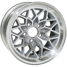 15X8 INCH TRANS AM SNOWFLAKE WHEEL - SILVER / GRAY WS6 - 1967-1981 GM 5 X 4.75