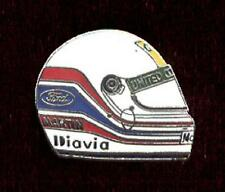 F1 Benetton Ford Martin Brundle Formula One Car Racing Helmet Shaped Lapel Pin
