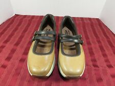 MBT Changa Tan Brown Leather Double Strap Mary Jane Anti Shoes Women Size 9
