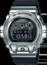 Casio G-Shock Stainless Steel Metal Bezels 6900 Black Digital New Watch GM6900-1