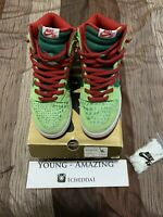 Nike Dunk High Pro SB Dr. Feelgood Motley Crue Size 9 Green Red Grinch 2007