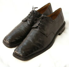 "Mezlan ""Bishop"" Ostrich Leather Black Derbys size Us 9.5 M"