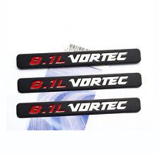 3x OEM 8.1L VORTEC HOOD emblems decals GMC Sierra 2500HD 3500 RED White i YU