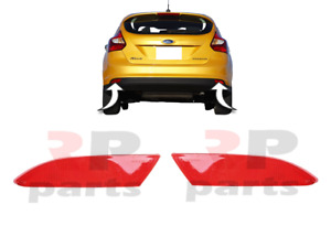 FOR FORD FOCUS MK3 2010 - 2014 NEW REAR BUMPER REFLECTOR PAIR SET