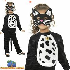 Cat Haloween Book Day All in One Kitty Childs Kids Girls Fancy Dress Costume