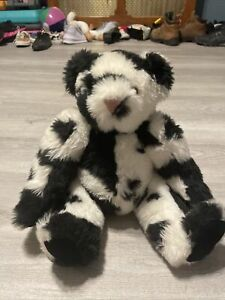 """Vermont Teddy Bear Holstein Cow and Print Jointed Bear VGUC-15"""""""