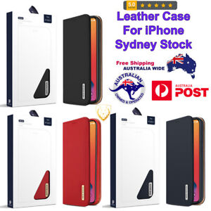 Genuine Strong Leather Case with Card Slots & Wallet For iPhone 12 Pro Max X