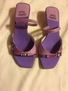Jeffery Campbell kitten Open toe purple Sandal Sz 8.5 new