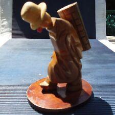 Sculpture Originale Bois Socle Artisanat Fait Main Pérou 15 x 11 x 9 Cm 165 Grs
