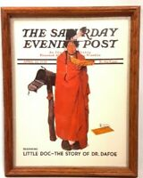 Saturday Evening Post Cover Norman Rockwell Print April 23, 1938 Dr. Dafoe Frame