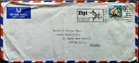Airmail Envelope Posted from Fiji to England in 1969 Fun In the Sun Postmark