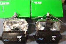 NEW ROVER P6 LUCAS SQUARE 8 FT8 LAMPS AND COVERS