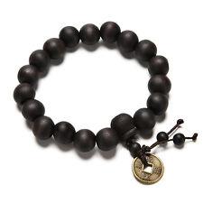 Wood Buddha Buddhist Prayer Beads Tibet Bracelet Mala Bangle Wrist Ornament HF2