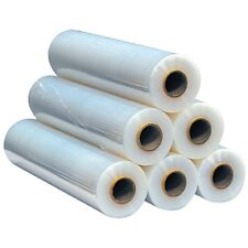 """4 Rolls CLEAR  Stretch Film Pallet Wrap 18""""x 1500FT Real 80G"""