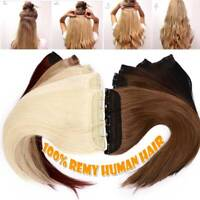 US Best One Piece 100% Remy Human Clip In Hair Extensions 3/4 Full Head Balayage