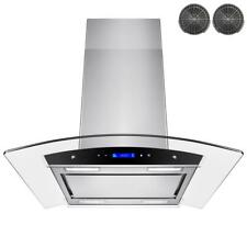AKDY 30 in. Convertible Kitchen Island Mount Range Hood in Stainless Steel with