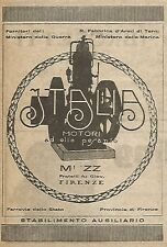 W9011 Oil Engines Italy-Muzz-Florence-Advertising 1917-VINTAGE AD